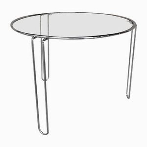 Round Vintage Chromed Steel Coffee Table, 1960s