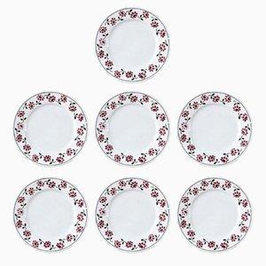 Vintage Plates from Digoin Sarreguemines, Set of 7