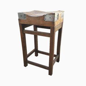 Mesa de trabajo vintage con bloques, años 50