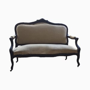 Antique Napoléon III Upholstered Bench