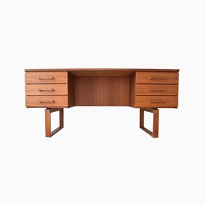 Danish Teak Executive Desk by Henning Jensen & Torben Valeur for Munch Møbler, 1960s