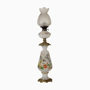 German Opaline Glass Lamp, 1900s