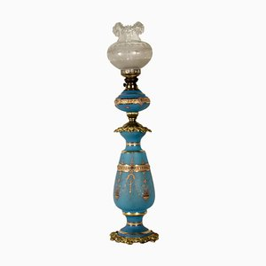Antique German Opaline Glass Table Lamp