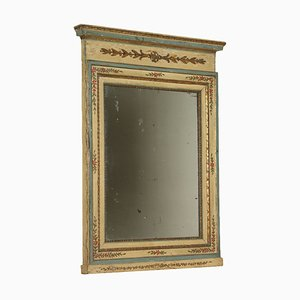 Italian Lacquered & Gilded Mantel Mirror, 1700s