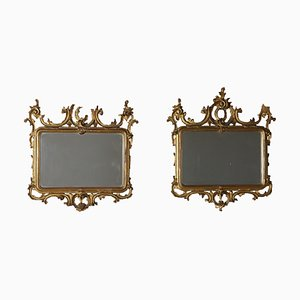 19th-Century Italian Gilded Wooden Frames, Set of 2