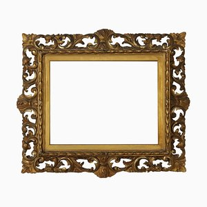 Vintage Baroque Style Italian Carved & Gilded Frame