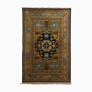 Vintage Azerbaijani Cotton & Wool Kuba Carpet
