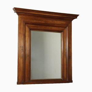 19th Century Empire Walnut Mantelpiece Mirror