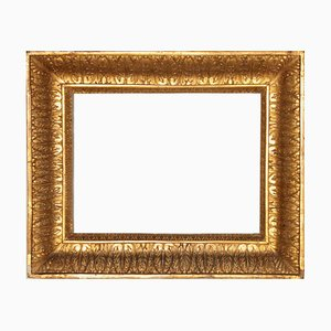18th Century Italian Mirror with Gilded & Carved Frame