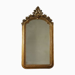Large Antique Italian Carved Mirror
