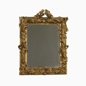 Antique Italian Gilded & Carved Mirror