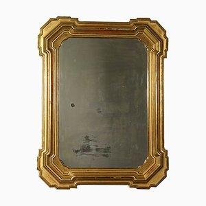 Large Antique Italian Gilded Mirror