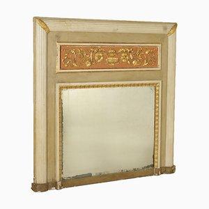 Specchio da camino neoclassico dorato, Italia