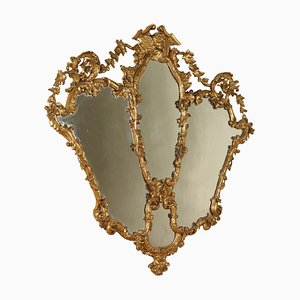 Antique Louis XV Gilded Wood Mirror