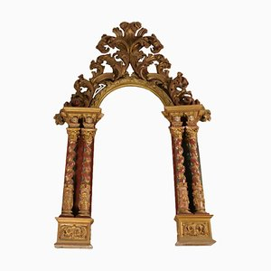 19th-Century Italian Wooden Portal