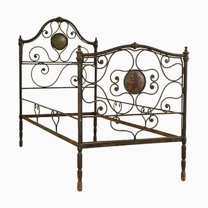 19th-Century Italian Iron Wrought Single Bed