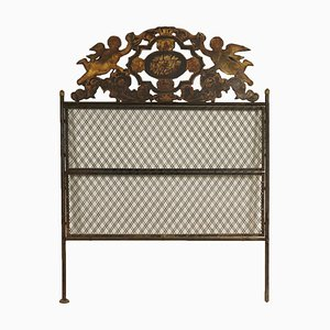 Antique Italian Wrought Iron Headboard Sheet