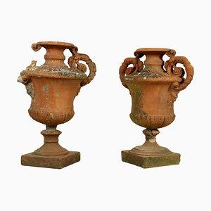 Antike italienische Amphoren aus Terrakotta, 2er Set
