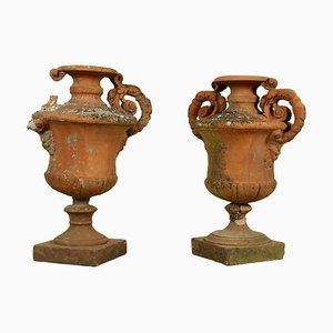 Antique Italian Terracotta Amphorae, Set of 2