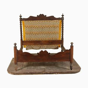 Walnut Bed with Platform, 1800