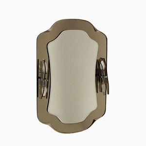 Vintage Spiegel mit Wandleuchten