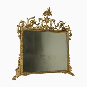 Antique Neoclassical Mantelpiece Mirror