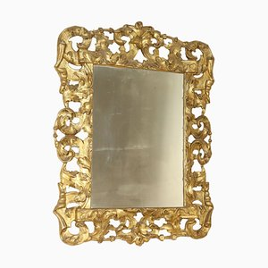 17th Century Italian Carved & Gilded Mirror