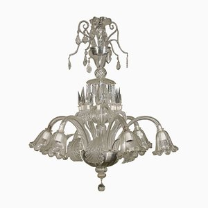 Large Italian Murano Glass Chandelier, 1900s