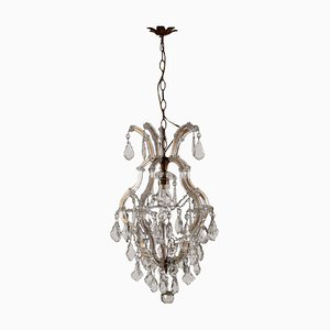 Italian Marie Therese Style Glass Chandelier, 1900s