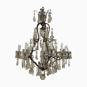 Large Italian Crystal Chandelier, 1900s
