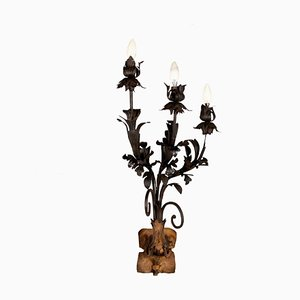 Antique Italian Wrought Iron Wall Light