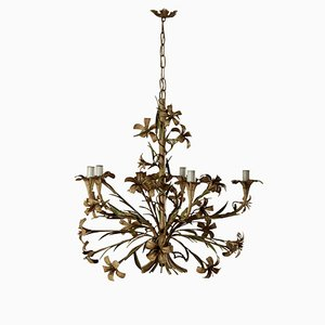 Antique Iron Sheet Flower Chandelier