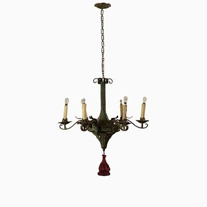 Antique Italian Metal Sheet Chandelier