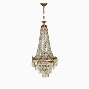 Antique Empire Style Glass Chandelier