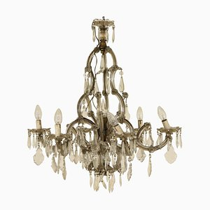 Lámpara de araña Maria Theresa vintage de vidrio