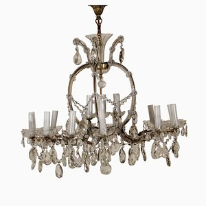 Crystal Glass Maria Theresa Chandelier, 1900s