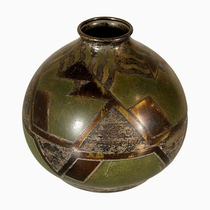 Vaso Art Deco in metallo