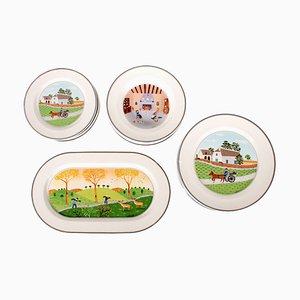 Servicio de cena antiguo de porcelana de Villeroy & Boch