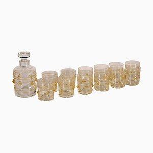 Set da liquore in cristallo di Theresienthal, XIX secolo