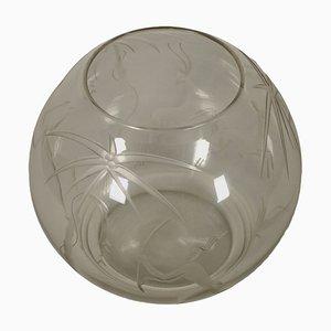 Jarrón Mid-Century de vidrio