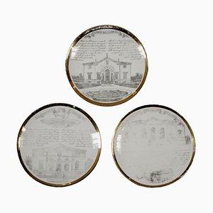 Mid-Century Plates Set by Piero Fornasetti