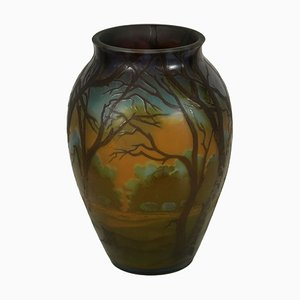 Vintage Vase with Landscape from Galle