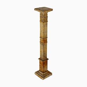 Columna italiana antigua de mármol