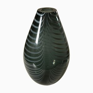 Vintage Italian Smoked Glass Vase