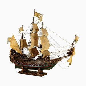 Large Wooden Le Soleil Sailing Ship from Royal, 1900s