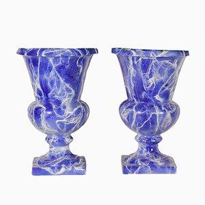 Jarrones italianos antiguos de cerámica. Juego de 2