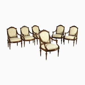 Sedie Luigi XVI antiche, set di 6