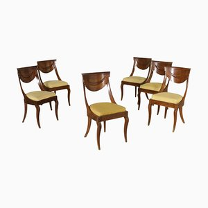 Antique Italian Gondola Chairs, Set of 6