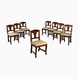 Sedie in noce, XIX secolo, set di 8
