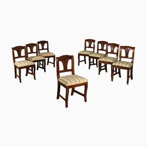 Stühle aus Nussholz, 19. Jh., 8er Set